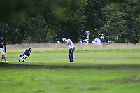 Marcus Kinhult (SWE) on the 18th during Round 1 of the Bridgestone Challenge 2017 at the Luton Hoo Hotel Golf &amp; Spa, Luton, Bedfordshire, England. 07/09/2017<br /> Picture: Golffile | Thos Caffrey<br /> <br /> <br /> All photo usage must carry mandatory copyright credit     (&copy; Golffile | Thos Caffrey)