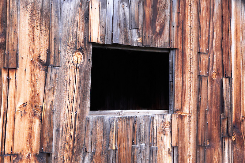Weathered barn boards with window. Abandoned barn in Freemont National Forest. Oregon