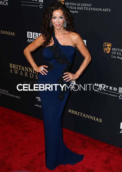 BEVERLY HILLS, CA, USA - OCTOBER 30: Sofia Milos arrives at the 2014 BAFTA Los Angeles Jaguar Britannia Awards Presented By BBC America And United Airlines held at The Beverly Hilton Hotel on October 30, 2014 in Beverly Hills, California, United States. (Photo by Xavier Collin/Celebrity Monitor)