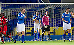 St Johnstone v St Mirren...20.09.11   Scottish Communities League Cup Third Round.Jamie Adams hides his face after his headed own goal gave the lead to St Mirren.Picture by Graeme Hart..Copyright Perthshire Picture Agency.Tel: 01738 623350  Mobile: 07990 594431