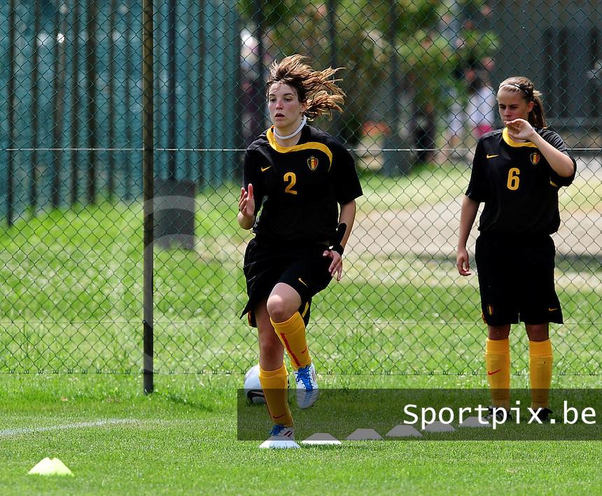 European Women's Under - 19 Championship 2011 Italy :  Belgium U19 training session at San Zaccaria : Stephanie Ninclaus..foto DAVID CATRY / VROUWENTEAM.BE