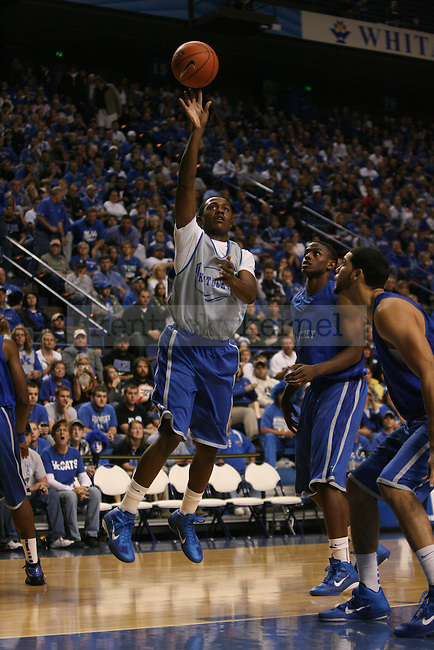 Freshman Doron Lamb goes up for a layup during the first half of  UK's mens basketball Blue White scrimmage held at Rupp Arena Tuesday, Oct. 26, 2010. Photo by Brandon Goodwin | Staff