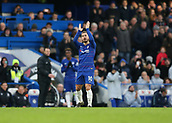2nd February 2019, Stamford Bridge, London, England; EPL Premier League football, Chelsea versus Huddersfield Town; Eden Hazard of Chelsea applauding the Chelsea fans as he is substituted off during the 2nd half for Callum Hudson-Odoi of Chelsea