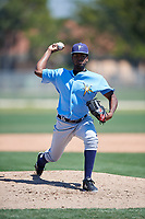 Tampa Bay Rays pitcher Willy Ortiz (71) during a Minor League Spring Training game against the Minnesota Twins on March 15, 2018 at CenturyLink Sports Complex in Fort Myers, Florida.  (Mike Janes/Four Seam Images)