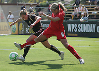 Rachel Buehler (left) Allie Long (right). Washington Freedom defeated FC Gold Pride 4-3 at Buck Shaw Stadium in Santa Clara, California on April 26, 2009.