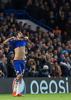 Diego Costa of Chelsea looks to the skies after a missed opportunity during the UEFA Champions League group G match between Chelsea and FC Porto at Stamford Bridge, London, England on 9 December 2015. Photo by Andy Rowland.