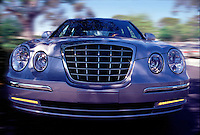 Auto Front Grille Close up, dramatic image