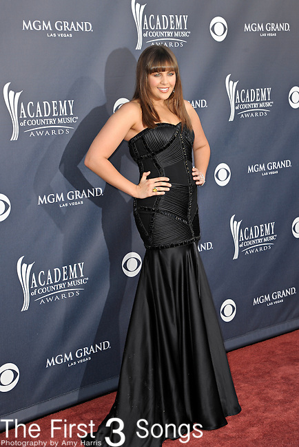 Hillary Scott of Lady Antebellum attends the 46th Annual Academy of Country Music Awards in Las Vegas, Nevada on April 3, 2011.