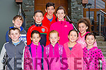 Ryan Crowley, Caoimhe Golden, Maeve Crowley, Emma Crowley, and Niamh Crowley. Back row: David Crowley, Cathal Crowley, Daragh Golden, Aoife Golden and Clodagh Golden Killorglin at the Old Kenmare walk in aid of Multiple Sclerosis Ireland on Sunday
