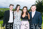 Enjoying the Colaiste na Sceilge Debutante Ball at Ballyroe Heights Hotel on Tuesday were l-r  Colin Orme, Aimee Demetriru, Fiona McGillicuddy and Kieran Daly