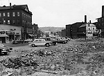 Main Street Winsted one year after the August 1955 flood.