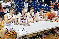 SAN ANTONIO, TX - DECEMBER 8, 2018: The University of Texas at San Antonio Roadrunners defeat the Mid-America Christian University Evangels 104-74 at the UTSA Convocation Center. (Photo by Jeff Huehn)