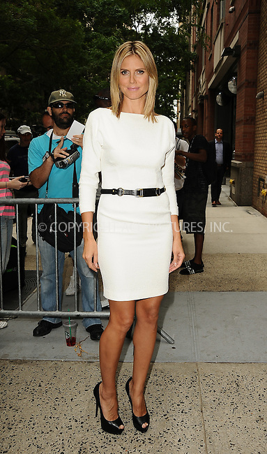 WWW.ACEPIXS.COM . . . . .  ....July 19 2012, New York City....TV personality Heidi Klum made an appearance at the Kelly Show on July 19 2012 in New York City....Please byline: Zelig Shaul - ACE PICTURES.... *** ***..Ace Pictures, Inc:  ..Philip Vaughan (212) 243-8787 or (646) 769 0430..e-mail: info@acepixs.com..web: http://www.acepixs.com