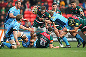 6th January 2018, Welford Road Stadium, Leicester, England; Aviva Premiership rugby, Leicester Tigers versus London Irish; Brendon O'Connor on the charge for Tigers