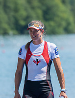 "Lucerne, SWITZERLAND, 15th July 2018, Sunday, ""CAN W1X"", ""Carling ZEEMAN"", Bronze Medalist, ""Women,s Single Sculls"", FISA World Cup III Lake Rotsee, © Peter SPURRIER,"