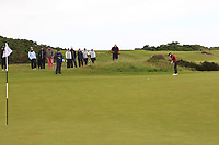 Amelia Garvey (NZL) on the 17th green during Matchplay Semi-Finals of the Women's Amateur Championship at Royal County Down Golf Club in Newcastle Co. Down on Saturday 15th June 2019.<br /> Picture:  Thos Caffrey / www.golffile.ie