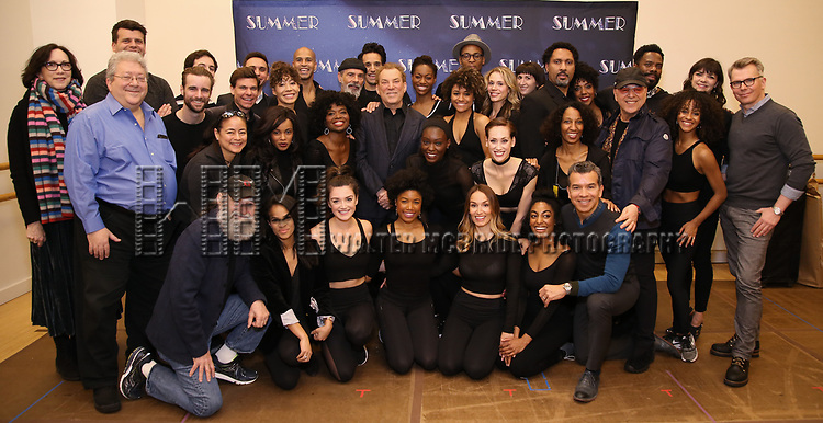 "Cast and creative team attend the Meet & Greet for ""Summer: The Donna Summer Musical"" on March 8, 2018 at the New 42nd Street Studios,  in New York City."