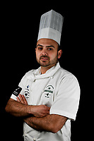 Melbourne, 30 May 2017 - Daniel Soto of the Montague Hotel in South Melbourne poses for a photograph at the Australian selection trials of the Bocuse d'Or culinary competition held during the Food Service Australia show at the Royal Exhibition Building in Melbourne, Australia. Photo Sydney Low