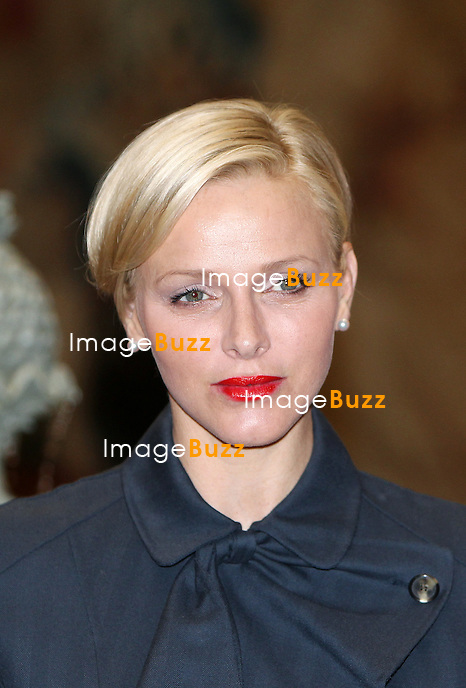 "H. S. H. PRINCESS CHARLENE OF MONACO  attends the 2013 Ladies Lunch in Monaco. .22,000 Euros were raised for the "" Centre de la Jeunesse Princesse Stéphanie "",  an activity center for the youth living in the Principality.?.Monaco, March 21, 2013."