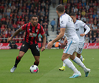 Bournemouth's Callum Wilson (left)  under pressure from West Ham United's Aaron Cresswell (centre)and Pablo Fornals (right) <br /> <br /> <br /> Photographer David Horton/CameraSport<br /> <br /> The Premier League - Bournemouth v West Ham United - Saturday 28th September 2019 - Vitality Stadium - Bournemouth<br /> <br /> World Copyright © 2019 CameraSport. All rights reserved. 43 Linden Ave. Countesthorpe. Leicester. England. LE8 5PG - Tel: +44 (0) 116 277 4147 - admin@camerasport.com - www.camerasport.com