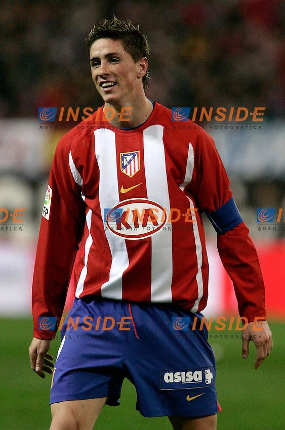 Atletico de Madrid's Fernando Torres reacts during Spain's La Liga match at Vicente Calderon stadium in Madrid, Saturday February 25, 2007. (INSIDE/ALTERPHOTOS/Alvaro Hernandez).