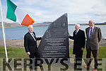 Pictured at the unveiling of the monument on Sunday at the Cable Station in Valentia were l-r; Diarmuid son of Tim Ring, Austin son of Eugene Ring & Denis Barrett Rosalie Rice's son in law.