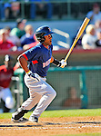 11 March 2011: Boston Red Sox infielder Tony Thomas in action during a Spring Training game against the Houston Astros at Osceola County Stadium in Kissimmee, Florida. The Red Sox defeated the Astros 9-3 in Grapefruit League action. Mandatory Credit: Ed Wolfstein Photo