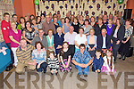 Birthday Wishes - Michael O'Hanlon from Causeway, seated centre having a wonderful time with friends and family at his 50th birthday party held in The White Sands Hotel on Friday night.