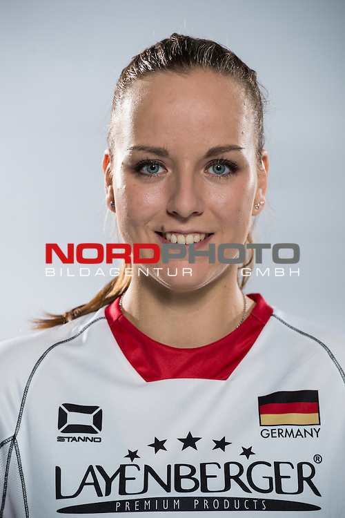 04.06.2015, Bundesleistungszentrum, Kienbaum<br /> Volleyball, Fotoshooting Nationalmannschaft Frauen<br /> <br /> Denise Hanke (#3 GER)<br /> <br />   Foto &copy; nordphoto / Kurth