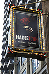 """Theatre Marquee unveiling for """"Hadestown"""", a musical by celebrated singer-songwriter Anaïs Mitchell and directed by Rachel Chavkin at the Walter Kerr Theatre on January 4, 2019 in New York City."""