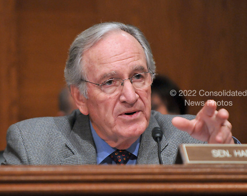 Washington, D.C. - January 9, 2009 -- United States Senator Tom Harkin (Democrat of Iowa) questions United States Representative Hilda L. Solis (Democrat of California) during her testimony before the United States Senate Committee on Health, Labor, Education, and Pensions on her nomination to be United States Secretary of Labor in Washington, D.C. on Friday, January 9, 2009..Credit: Ron Sachs / CNP