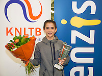 Rotterdam, The Netherlands, March 13, 2016,  TV Victoria, NOJK 12/16 years, Winner  boys 12 years Steffan van Weldam (NED) <br /> Photo: Tennisimages/Henk Koster