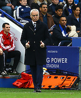 Leicester City manager Claudio Ranieri gives the thumbs up during the Barclays Premier League match between Leicester City and Swansea City played at The King Power Stadium, Leicester on 24th April 2016
