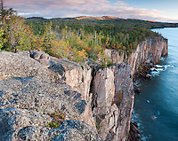 View from sea cliffs in Tettegouche State Park on Minnesota's North Shore of Lake Superior.
