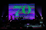 Stage and atmosphere at the Dramatists Guild Foundation toast to Stephen Schwartz with a 70th Birthday Celebration Concert at The Hudson Theatre on April 23, 2018 in New York City.