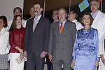 Queen Letizia of Spain, King Felipe VI of Spain, King Juan Carlos and Queen Sofia during the 40th anniversary of Reina Sofia Alzheimer Foundation. May 21 ,2017. (ALTERPHOTOS/Pool)
