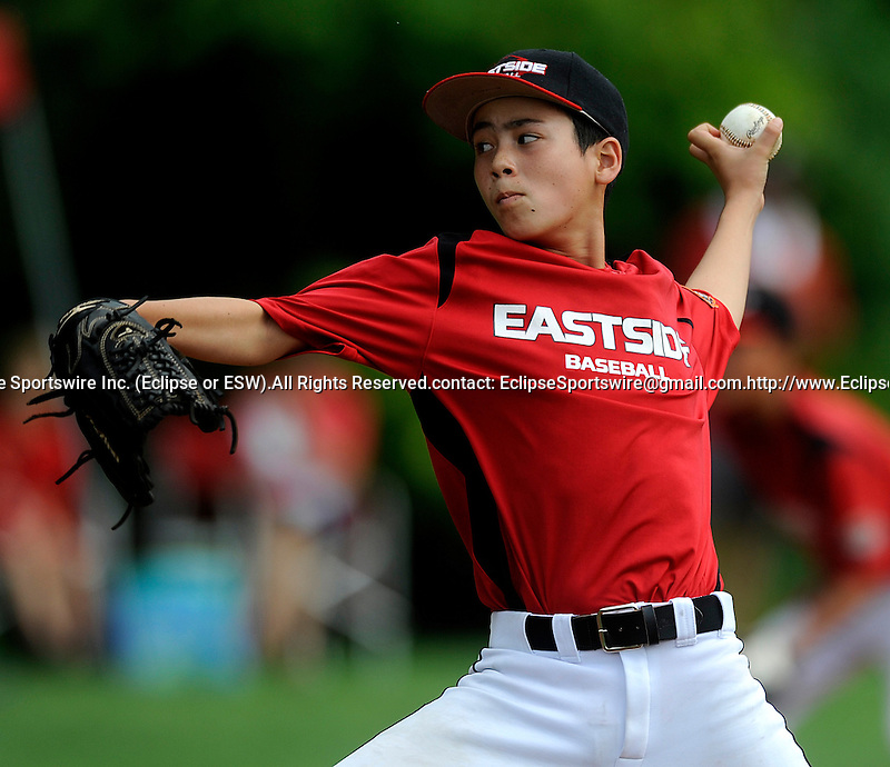 Michael Viola of Oahu East (HI) pitches during  the Cal Ripken World Series in Aberdeen, Maryland on August 15, 2011