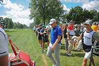 Tyrell Hatton (ENG) heads to 11th tee during Saturday's round 3 of the World Golf Championships - Bridgestone Invitational, at the Firestone Country Club, Akron, Ohio. 8/5/2017.<br /> Picture: Golffile | Ken Murray<br /> <br /> <br /> All photo usage must carry mandatory copyright credit (&copy; Golffile | Ken Murray)