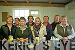 Ballyduff Coursing: Time out during between courses the Tea ladies in the Canteen: front: Nodie O'Brien, Peggy Slattery, Mairead Slattery & Noreen Lynch. Back: Alma Lynch-Slattery, Shelia Ashe, Elma O@Sullivan and Kathleen O'Carroll. The ladie are in the running for a prize for the best run canteen at coursing meetings.