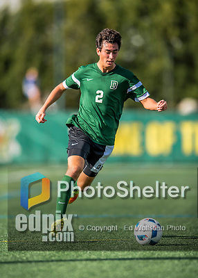 24 September 2016: Dartmouth College Big Green Midfielder/Defender Braden Salvati, a Freshman from Del Mar, CA, in action against the University of Vermont Catamounts at Virtue Field in Burlington, Vermont. The teams played to an overtime 1-1 tie in front of an Alumni Weekend crowd of 1,710 fans. Mandatory Credit: Ed Wolfstein Photo *** RAW (NEF) Image File Available ***