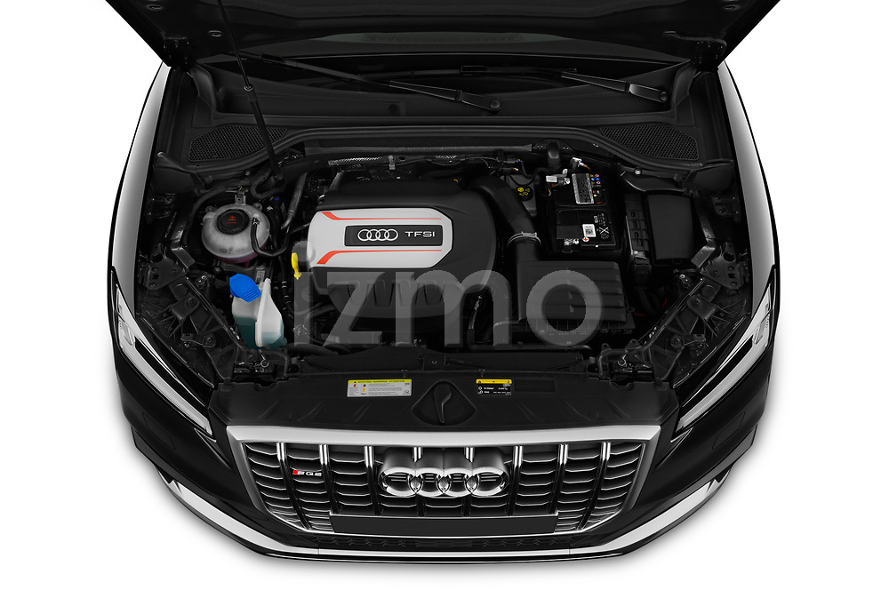 Car stock 2019 Audi SQ2 Base 5 Door SUV engine high angle detail view