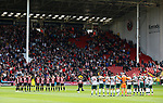 Minutes silence held in respect of those who have lost their lives in the Barcelona terrorist attack during the Championship League match at Bramall Lane Stadium, Sheffield. Picture date 19th August 2017. Picture credit should read: Simon Bellis/Sportimage
