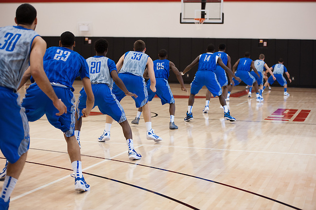 November  18, 2011 - Bristol, CT - ESPN Gym:  University of Kentucky Wildcats Men's Basketball Practice...Credit: Joe Faraoni/ESPN