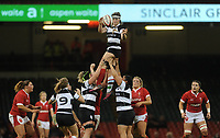 Anna Caplice of Barbarians claims the lineout<br /> <br /> Photographer Ian Cook/CameraSport<br /> <br /> 2019 Autumn Internationals - Wales Women v Barbarians Women - Saturday 30th November 2019 - Principality Stadium - Cardifff<br /> <br /> World Copyright © 2019 CameraSport. All rights reserved. 43 Linden Ave. Countesthorpe. Leicester. England. LE8 5PG - Tel: +44 (0) 116 277 4147 - admin@camerasport.com - www.camerasport.com