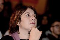 Roma, 1 Dicembre 2018<br /> Cecilia Strada.<br /> Il Sindaco di Napoli lancia a Roma nel Teatro Italia &quot;Oltre le disuguaglianze&quot; , una nuova coalizione dei Popoli