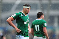 Max Deegan of Ireland U20 looks on during a break in play. World Rugby U20 Championship match between New Zealand U20 and Ireland U20 on June 11, 2016 at the Manchester City Academy Stadium in Manchester, England. Photo by: Patrick Khachfe / Onside Images