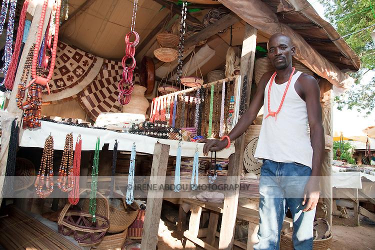A Fulani man sells handicrafts in the Nigerian capital of Abuja.