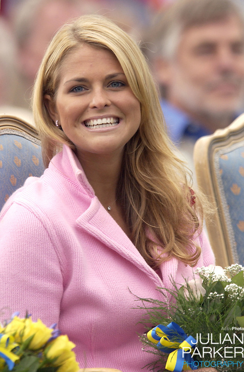 Princess Madeleine celebrates Crown Princess Victoria of Sweden's 27th birthday with a concert in Borgholm..