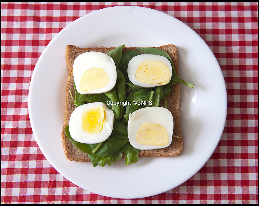 """BNPS.co.uk (01202 558833)<br /> Pic: RachelTrump/BNPS<br /> <br /> FYI: The finished product, 'square' slices of egg. <br /> <br /> A clever gadget has been invented to solve the age-old problem of fitting slices of round egg in a square sandwich.<br /> <br /> For generations people have been chopping up circular pieces of egg and layering them on bread but being forced to leave gaps at the corners.<br /> <br /> A handy device has now been created which turns the oval snack into a cube, making it easier to hold still and cut up.<br /> <br /> The contraption, known as the Egg-Q-Ber, is a jar in which hard-boiled eggs are placed and squashed into the new shape.<br /> <br /> A user simply has to cook their egg, peel off the shell, place it in the container with a dash of oil, and screw on the lid.<br /> <br /> After just one minute, the egg will have moulded to a cube shape and can be chopped up ready for sandwiches and salads.<br /> <br /> People who have purchased the product have posted reviews praising it online, including one user who said it was a 'Brilliant innovative gadget.'<br /> <br /> The 3.5 by 2.5 inch gadget can be purchased at Firebox.com<br /> <br /> Ben Redhead, head of buying for the website, said: """"Boiled eggs have been the bane of picnics and pack-lunches the world over due to their completely illogical shape."""