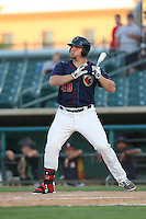 A.J. Reed (40) of the Lancaster JetHawks bats during a game against the Visalia Rawhide at The Hanger on June 16, 2015 in Lancaster, California. Lancaster defeated Visalia, 11-3. (Larry Goren/Four Seam Images)